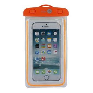 MUVIT Housse imperméable universelle IPX8 Muvit orange transparente (jusqu'à 6,2 pouces)