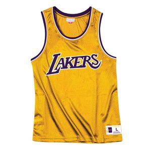 Basket ball homme MITCHELL AND NESS T-shirt Mitchell & Ness Nba Mesh Top Lakers