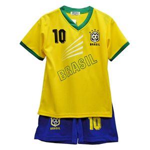 Mode- Lifestyle enfant NPZ Ensemble short et tee shirt Bresil news Taille 2 é 14 ans - 4 ans jaune