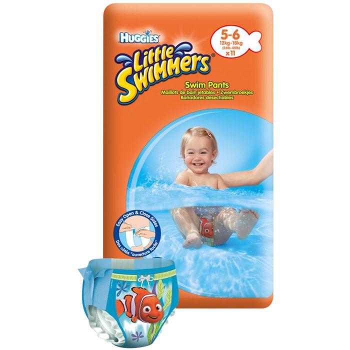 Huggies little swimmers 5 6 achat et prix pas cher go for Bebe couche piscine