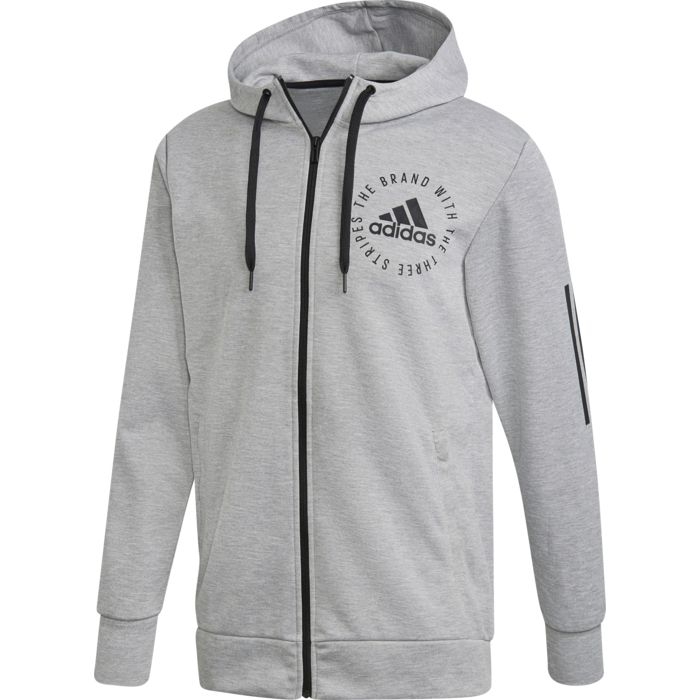 sweat capuche adidas gris homme m sid logo