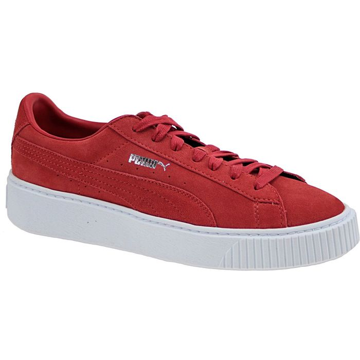 puma rouge suede femme