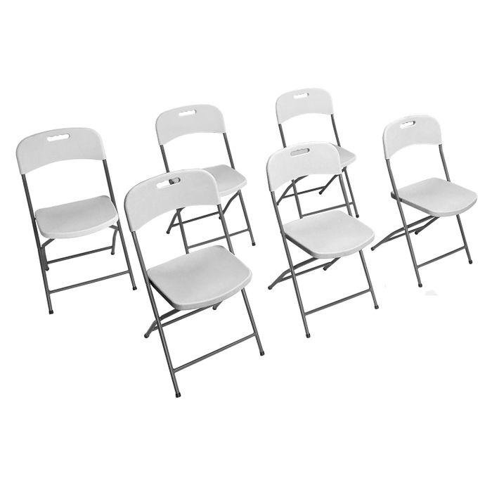 lot de 6 chaises pliantes cocktail achat et prix pas cher go sport. Black Bedroom Furniture Sets. Home Design Ideas