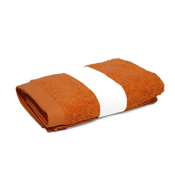 serviette de toilette 50x100 cm pure orange safran 550 g. Black Bedroom Furniture Sets. Home Design Ideas