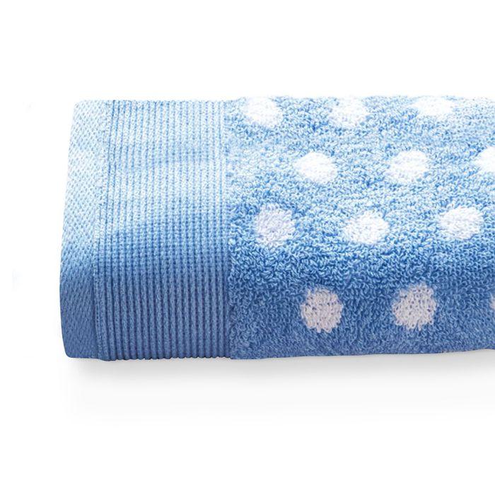 serviette de toilette 40x60 cm domino bleu 550 g m2. Black Bedroom Furniture Sets. Home Design Ideas