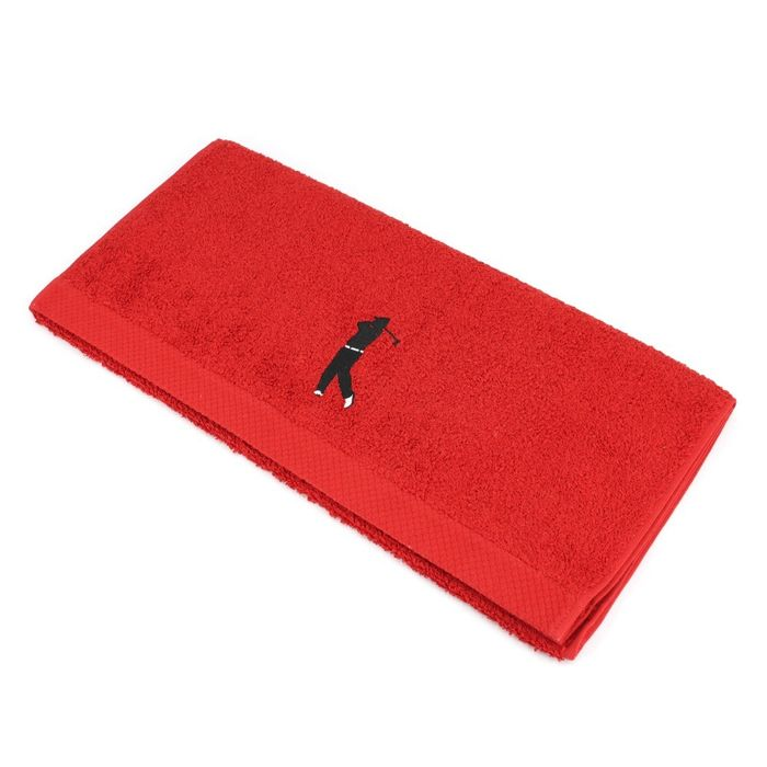 serviette de toilette 50x100 cm 100 coton 550 g m2 pure golf rouge achat et prix pas cher. Black Bedroom Furniture Sets. Home Design Ideas