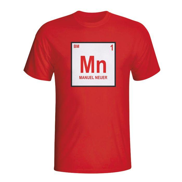 7bf2fec5259 Football homme GILDAN Manuel Neuer Bayern Munich Periodic Table T-Shirt  (rouge)
