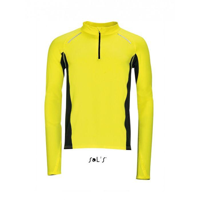 t shirt running manches longues homme 01416 jaune fluo achat et prix pas cher go sport. Black Bedroom Furniture Sets. Home Design Ideas