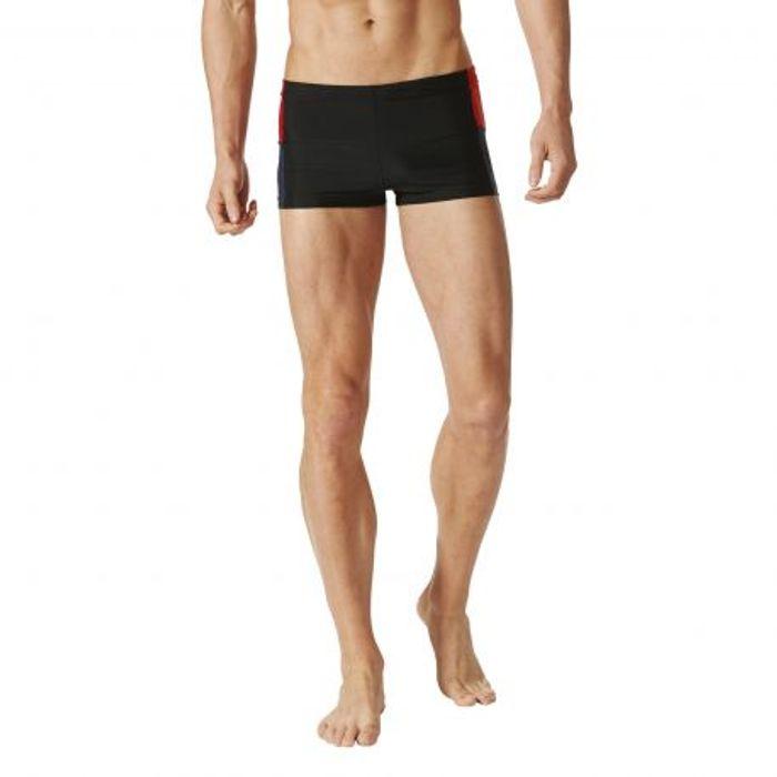 adidas natation maillot de bain homme noir rouge colorblock achat et prix pas cher go sport. Black Bedroom Furniture Sets. Home Design Ideas