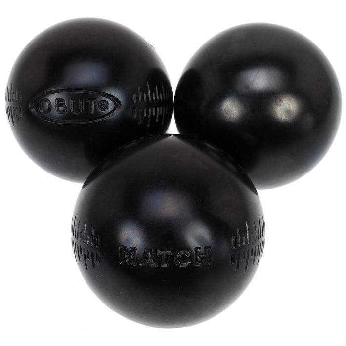 Boules de p tanque match noir 1 2 tendre 72m achat et for Boule de petanque prix