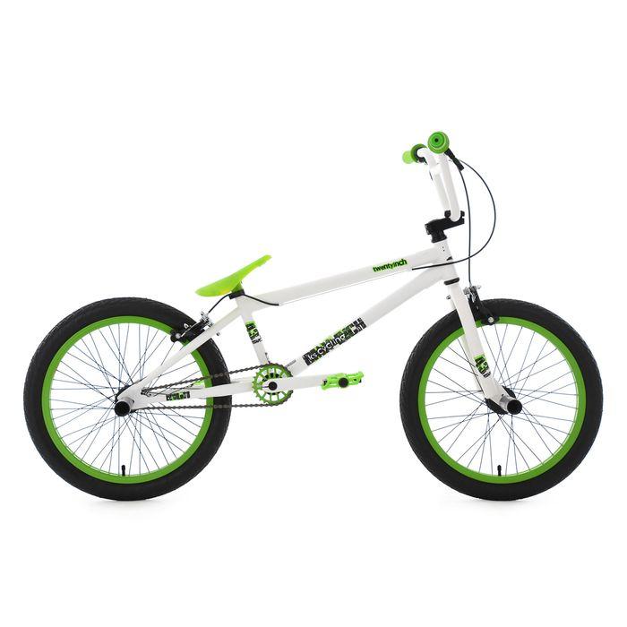 bmx freestyle 20 39 39 twentyinch blanc vert ks cycling achat et prix pas cher go sport. Black Bedroom Furniture Sets. Home Design Ideas