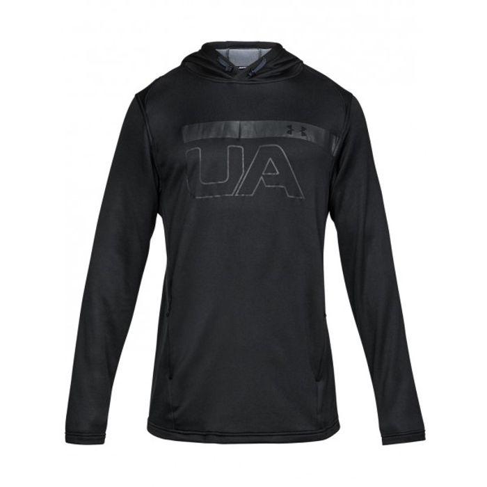 sweat capuche under armour mk1 terry graphic hoodie noir. Black Bedroom Furniture Sets. Home Design Ideas
