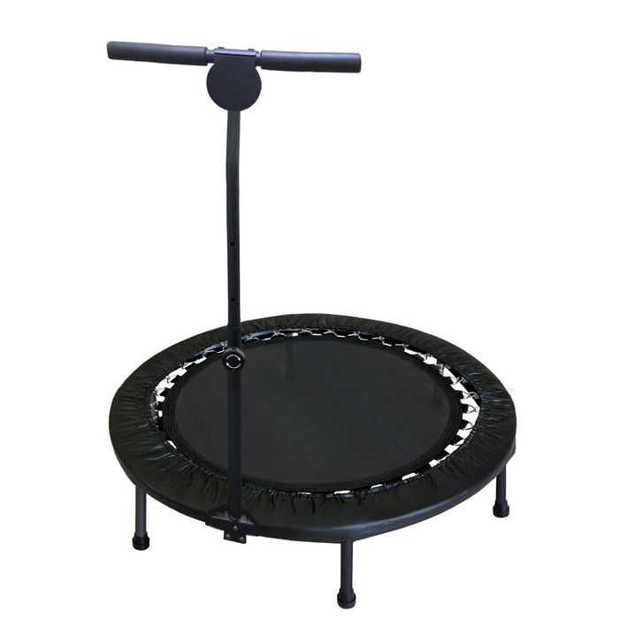 trampoline fitness avec barre cross jump noir achat et prix pas cher go sport. Black Bedroom Furniture Sets. Home Design Ideas