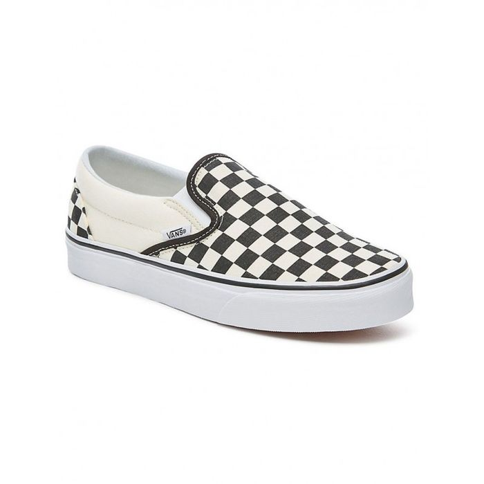 Mode Lifestyle adulte VANS Chaussures Vans U Classic Slip On Black White Checker White
