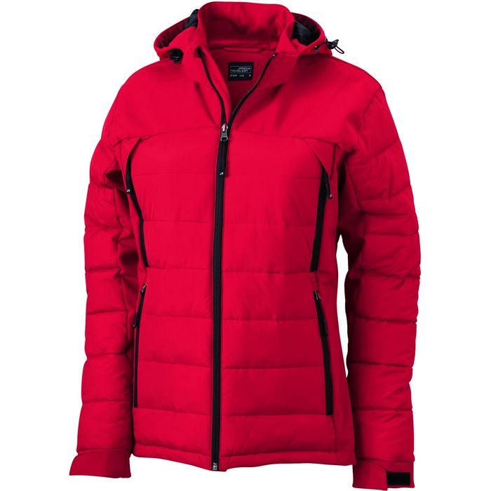 veste matelass e femme anorak ski neige jn1049 rouge. Black Bedroom Furniture Sets. Home Design Ideas