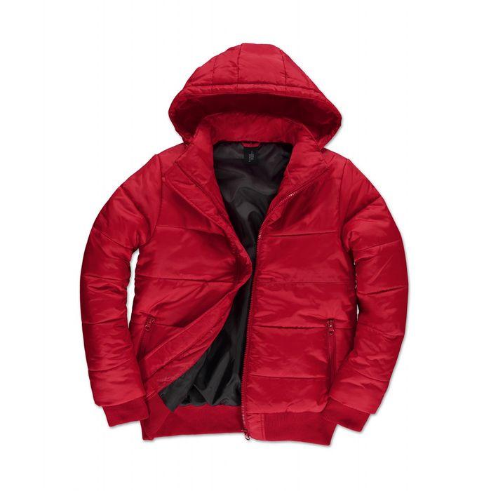 doudoune capuche amovible pour homme jm940 rouge. Black Bedroom Furniture Sets. Home Design Ideas
