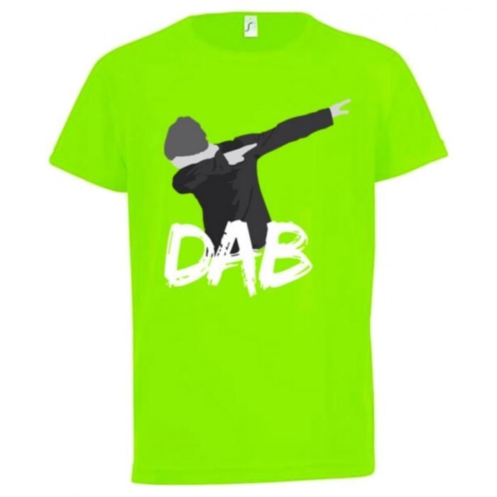 maillot tee shirt dab enfant anti transpirant vert fluo taille de 7 13 ans achat et prix. Black Bedroom Furniture Sets. Home Design Ideas