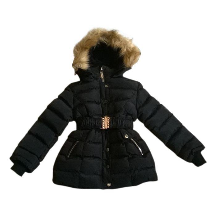 doudoune fille longue capuche fashion noire taille de 4 14 ans achat et prix pas cher go. Black Bedroom Furniture Sets. Home Design Ideas