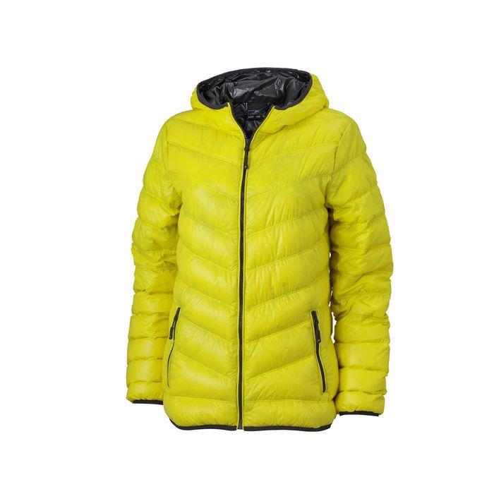 veste duvet capuche doudoune anorak femme jn1059 jaune achat et prix pas cher go sport. Black Bedroom Furniture Sets. Home Design Ideas