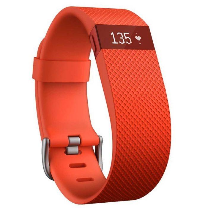 bracelet connect fitbit charge hr orange taille l achat et prix pas cher go sport. Black Bedroom Furniture Sets. Home Design Ideas