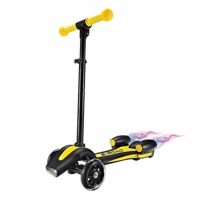 trottinette 3 roues avec fum e jaune achat et prix pas cher go sport. Black Bedroom Furniture Sets. Home Design Ideas