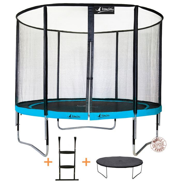 kangui trampoline de jardin rond 305 cm filet de. Black Bedroom Furniture Sets. Home Design Ideas