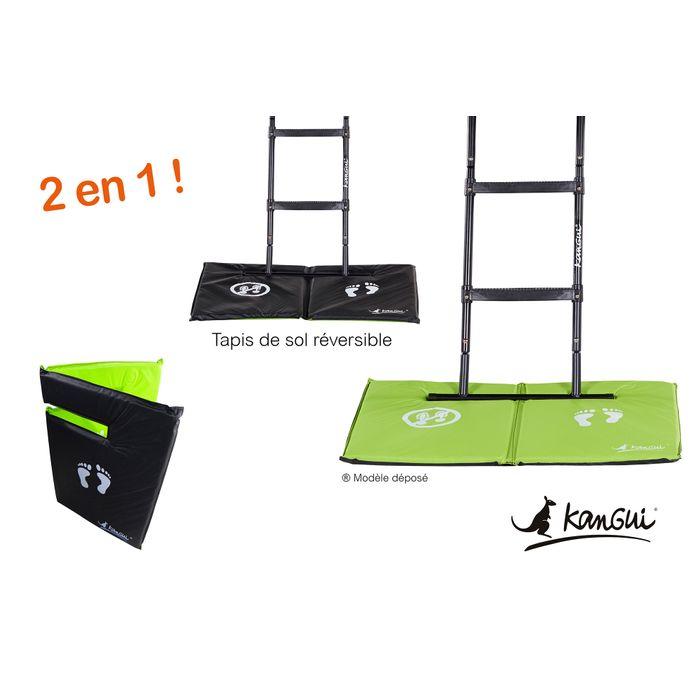 kangui tapis de sol universel pour trampoline r versible noir ou vert achat et prix pas. Black Bedroom Furniture Sets. Home Design Ideas