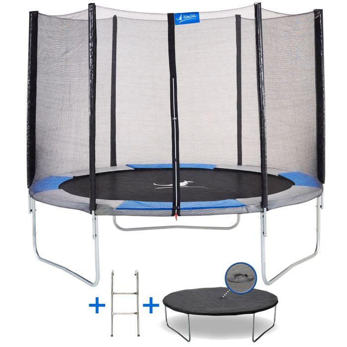 kangui trampoline rond 250cm avec filet chelle et b che de protection ralli 250 achat. Black Bedroom Furniture Sets. Home Design Ideas