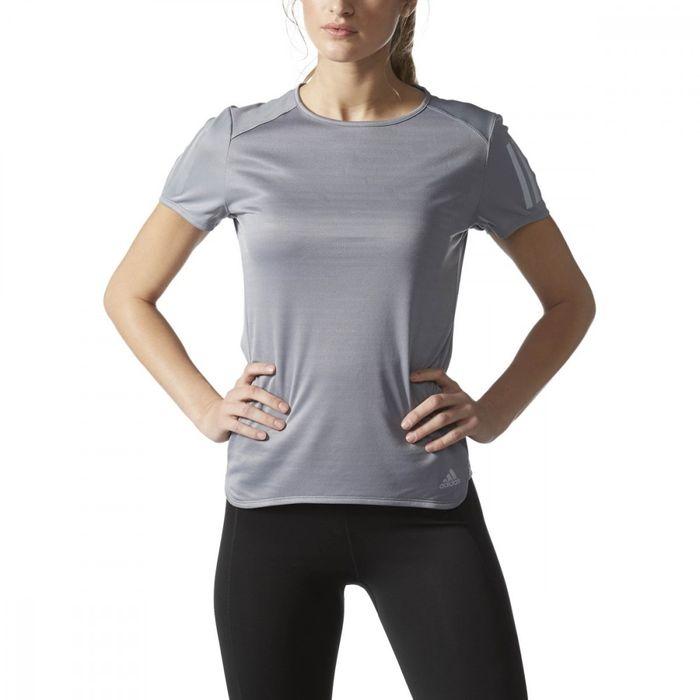 t shirt femme adidas gris