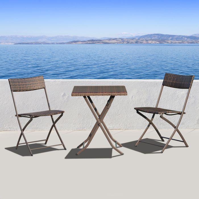 Ensemble meubles de jardin design table carré et chaises ...