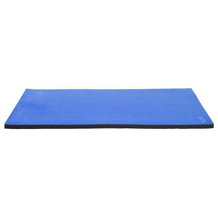 tapis de sol gymnastique natte de sport pliante antid rapante 180l x 122l x 4h cm bleu noir neuf. Black Bedroom Furniture Sets. Home Design Ideas