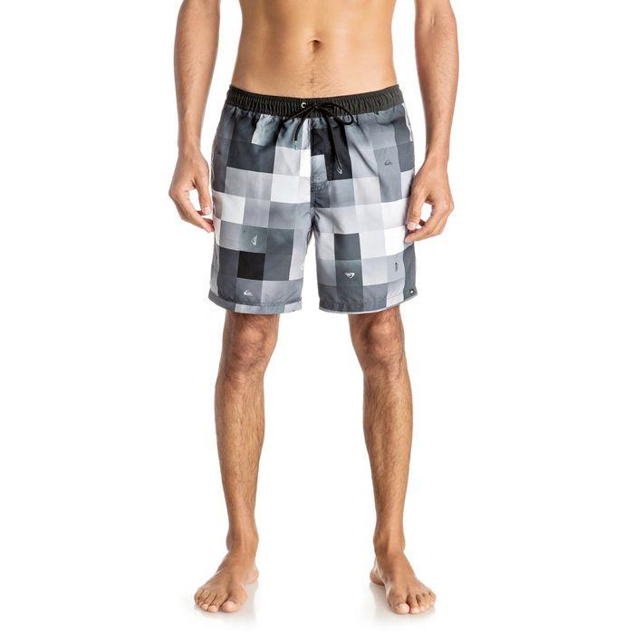 Short de bain quiksilver check mark volley 17 39 39 achat et for Short de bain piscine