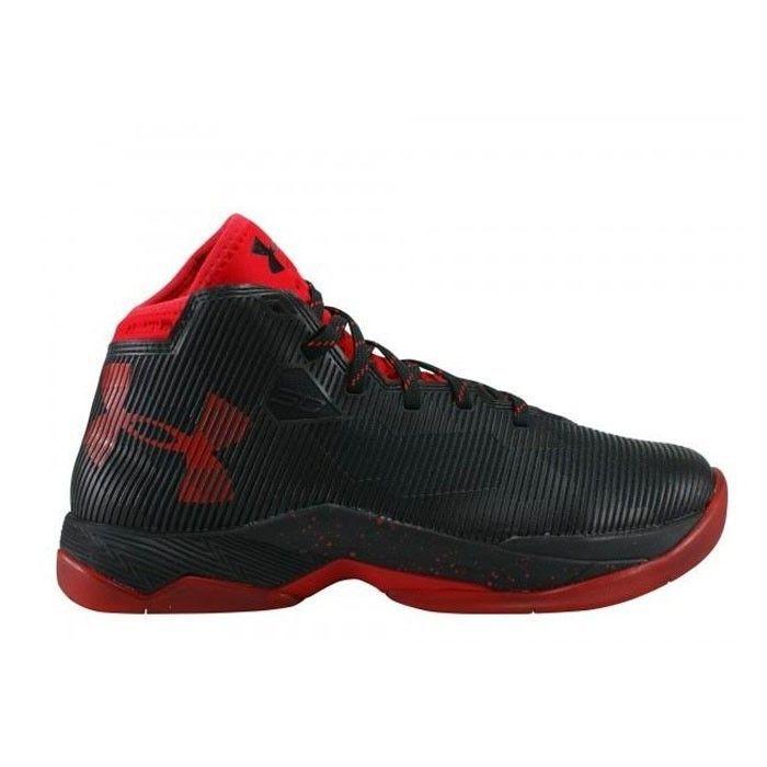 chaussure de basketball under armour stephen curry 2 5 noir rouge pour enfants achat et prix. Black Bedroom Furniture Sets. Home Design Ideas