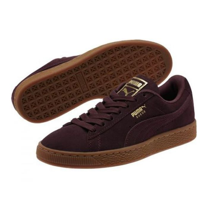 Suede Winetasting Or Puma Bordeaux Et – Achat Chaussures Classic Gld FJc53ulKT1