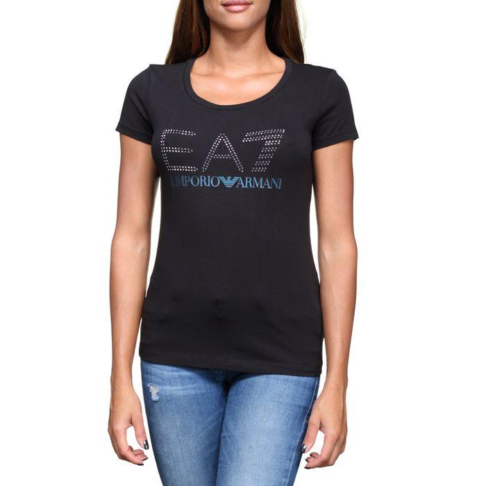 a0cf5d8d92d Mode- Lifestyle femme EMPORIO ARMANI Tee shirt femme EA7 Emporio Armani  6ztt78 - Tj12z 1200 Noir