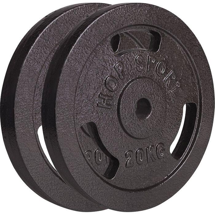 poids disques en fonte 40 kg 2x20 kg achat et prix pas cher go sport. Black Bedroom Furniture Sets. Home Design Ideas