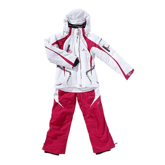 peak mountain ensemble de ski fille gagyss nh blanc. Black Bedroom Furniture Sets. Home Design Ideas