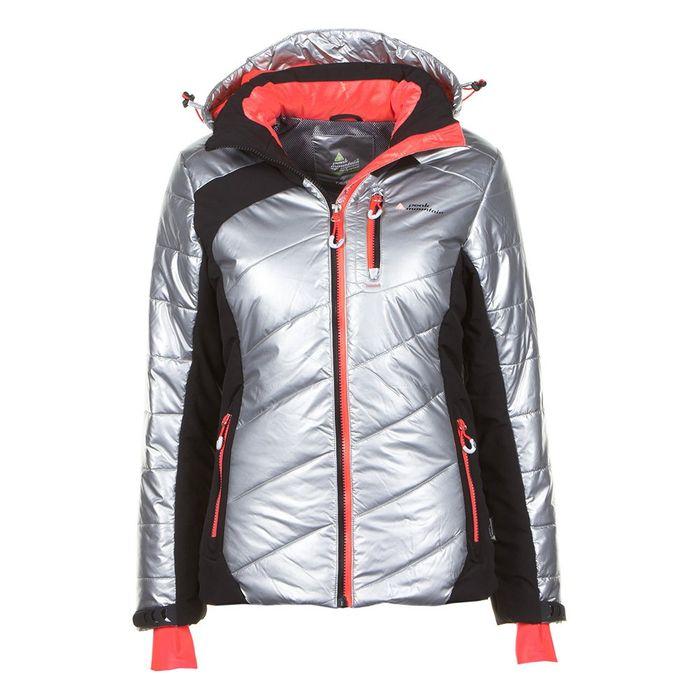 peak mountain doudoune de ski femme acilver argent noir. Black Bedroom Furniture Sets. Home Design Ideas