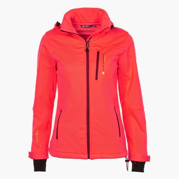 peak mountain blouson softshell fille 3 8 ans fanne orange achat et prix pas cher go sport. Black Bedroom Furniture Sets. Home Design Ideas