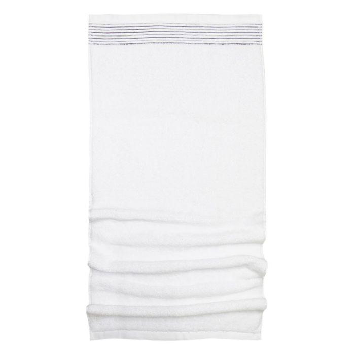 serviette de toilette 50x100 cm juliet blanc 520 g m2. Black Bedroom Furniture Sets. Home Design Ideas
