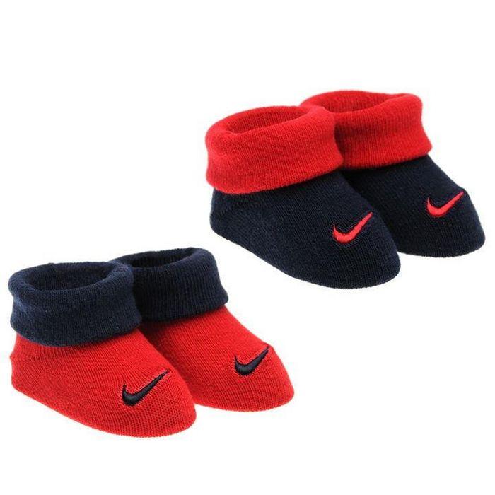 new arrive best wholesaler various styles Coffret Cadeau de 2 Paires de Chaussons Marine et Rouge Bébé Nike ...