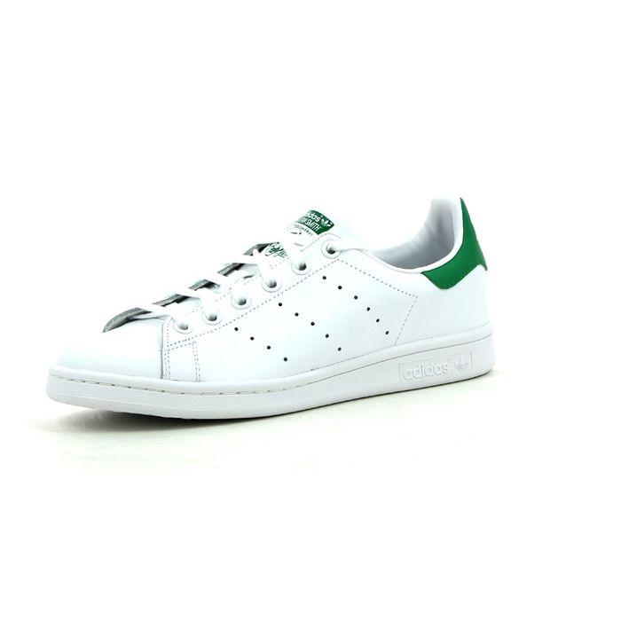 the latest 2cf3f 7203d Mode- Lifestyle adulte ADIDAS ORIGINALS Chaussures Stan Smith Blanc Vert JW