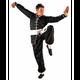 Kung fu homme FUJI MAE Tenue de kung fu passepoilée - noir Taille - 120cm