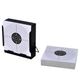 Tir à l'arc  VIDAXL vidaXL Porte-cible carré avec piège à plombs + 100 cibles en papier 14 cm
