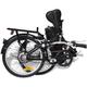 Cycle  VIDAXL vidaXL Vélo électrique pliable en alliage d'aluminium et batterie lithium-ion