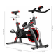 FITFIU Velo spinning FITFIU réglable roue inertie 24kg frequence cardiaque et ecran LCD