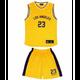 Mode- Lifestyle enfant NPZ Ensemble de sport Maillot et short de Basketball enfant de l'équipe de Los Angeles jaune - 4 ans