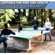 Tennis de table  FAKAIS 4 raquettes de ping pong + 8balles + filet + sacoche rangement+ éponge pour raquettes