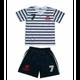 Football garçon FASHION Ensemble de Foot Maillot à rayures et Short de l'équipe de France Enfants