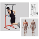 Musculation  PULL UP FITNESS Pull Up Fitness - Barre de Traction Ajustable Musculation Multifonction, Rouge/Noir